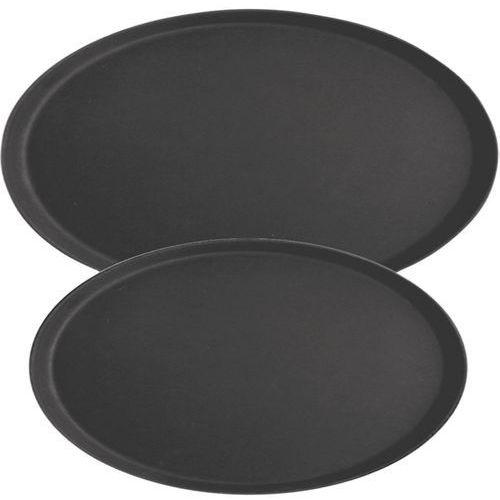 Taca kelnerska antypoślizgowa owalna czarna marki Stalgast