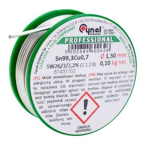 Spoiwo lutownicze bezołowiowe Cynel 1,5 mm 100 g, CU1-SW26-15100