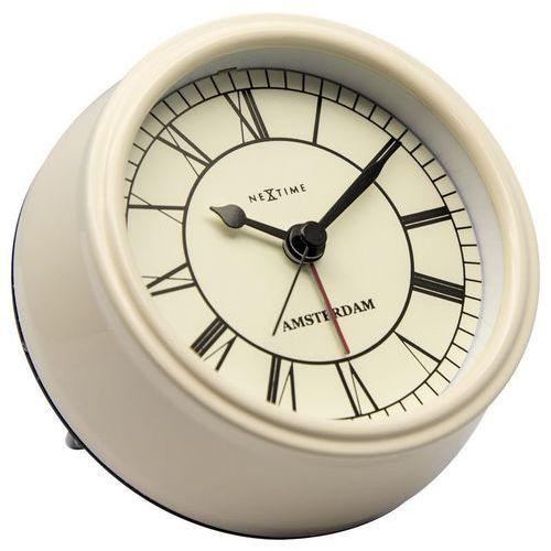 Nextime - zegar stojący small amsterdam - kremowy