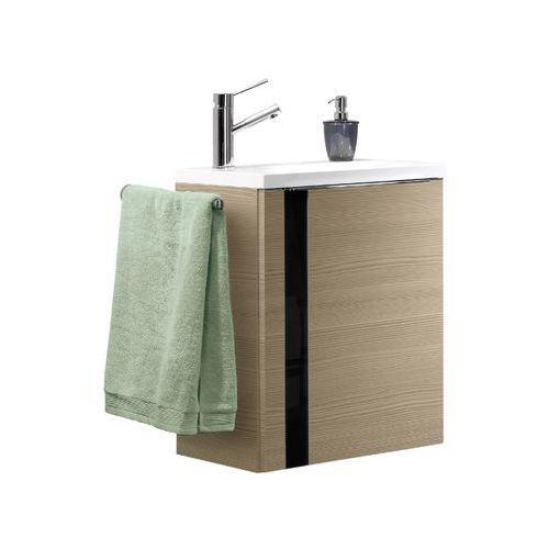Szafka łazienkowa sosna z umywalką Lanzet Vedro 50 - Czarna \ 50 cm \ sosna