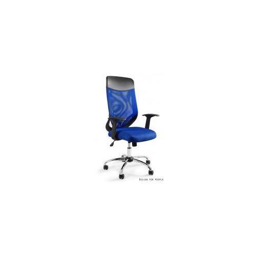 Krzesło biurowe Mobi Plus niebieskie, W-952-7