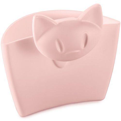 Wielofunkcyjny pojemnik na kubek mimmi - kolor pudrowy różowy, marki Koziol