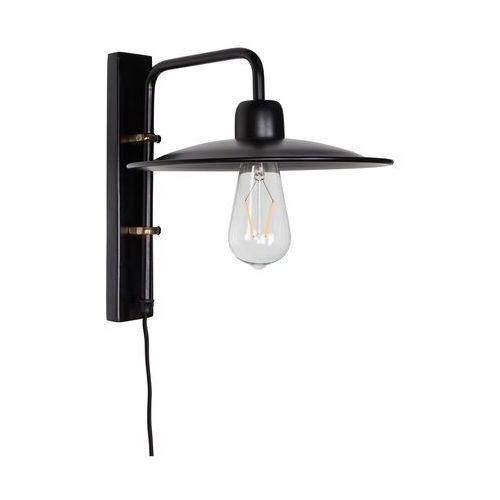 Dutchbone Lampa ścienna FOUK czarna 5400010 (8718548032521)