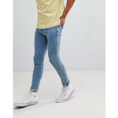 New Look skinny jeans in blue wash - Blue, kolor niebieski