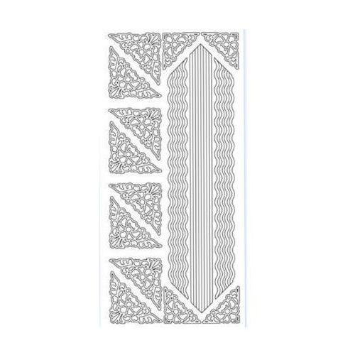 Sticker srebrny 13880 - szlaczki i narożniki x1 marki Herma