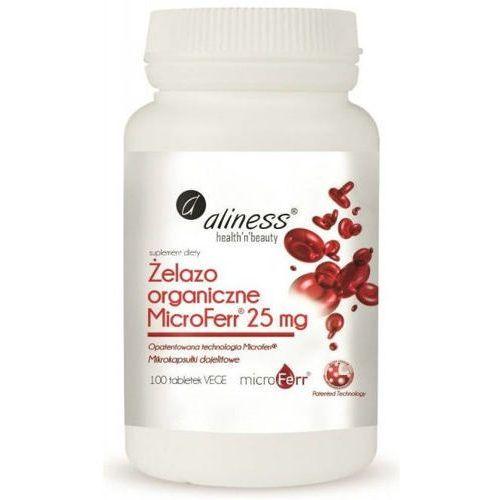 Tabletki Aliness Żelazo Microferr 25mg x 100 tabletek