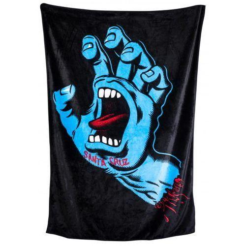 Santa cruz Ręcznik - screaming hand blanket black (black)