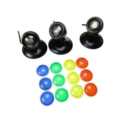 Aqua nova wodoodporna lampa led 3x1w 12v szkiełka kolorowe - darmowa dostawa od 95 zł!