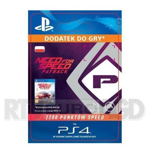 Sony Need for speed payback 2200 punktów speed [kod aktywacyjny] (0000006200384)