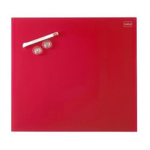 Tablica szklana diamond 30x30 cm czerwona marki Nobo
