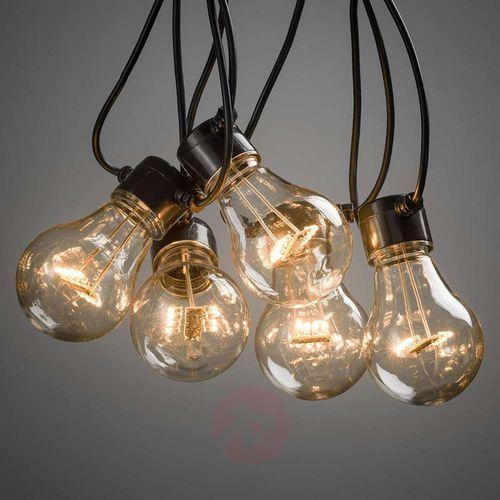 Łańcuch LED Ogródek piwny, światło bursztynowe
