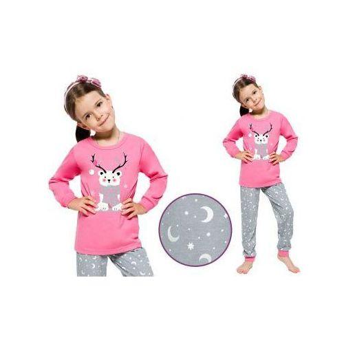 Piżama dziecięca ada: róż/szary marki Taro