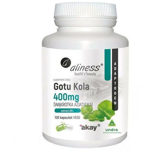 Wąkrota azjatycka Gotu Kola 400 mg 100 kapsułek Aliness (5903242581267)