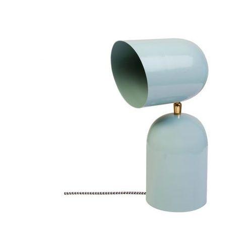 Vente-unique Lampa stojąca copa w stylu vintage – żelazo – 15 × 15 × 30 cm (dł. × szer. × wys.) – kolor błękitny