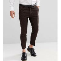 woven in england skinny cropped trouser in herringbone - brown, Heart & dagger