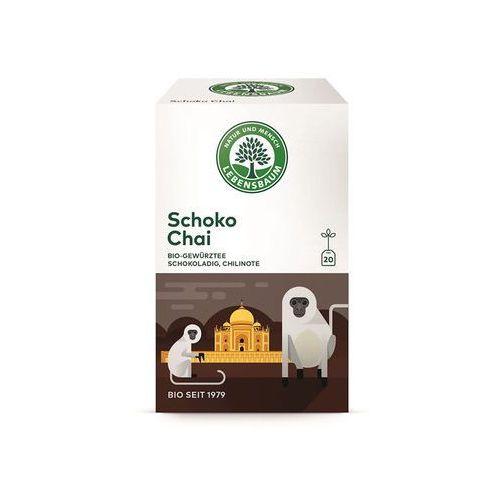 Herbata czekoladowa chai ekspresowa bio (20 x 2 g) - lebensbaum marki Lebensbaum (przyprawy, herbaty, kawy)
