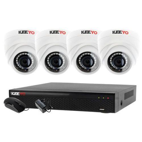 Monitoring zestaw 4 kamerowy do szkoły przedszkola 4w1 4x kamera lv-al1m2fdpwh rejestrator 4 kanałowy lv-xvr44se p2p marki Ivelset