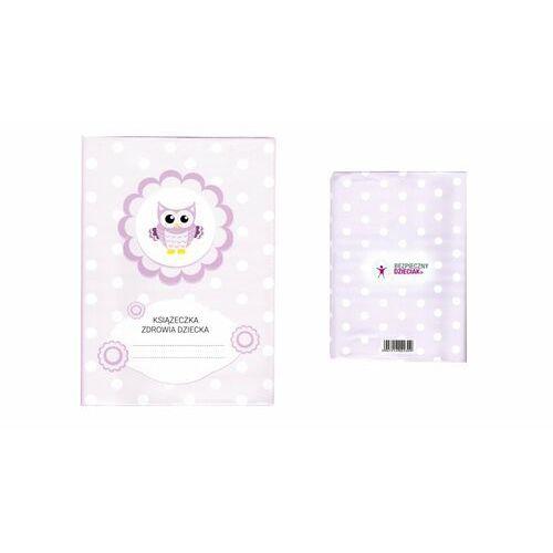 Okładka etui na książeczkę zdrowia dziecka, pvc - 2-różowa sówka i groszki marki Biurfol