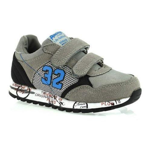 Sportowe buty dla dzieci k152753 - szary marki American club