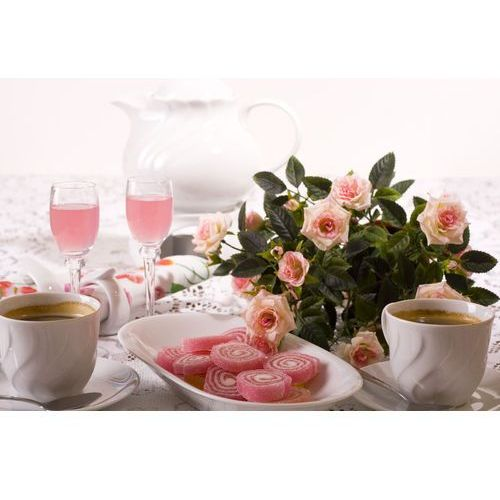 Porcelana Krzysztof Daphne serwis obiadowo-kawowy na 12 osób 79 elementów
