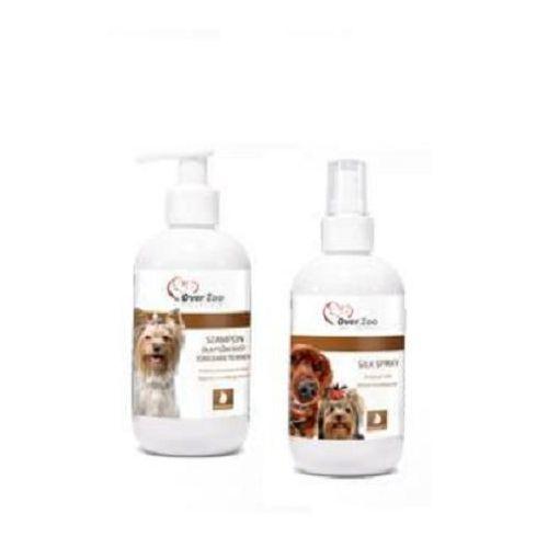 zestaw dla psów rasy yorkshire terrier (szampon + silk spray) 2x250ml marki Over zoo