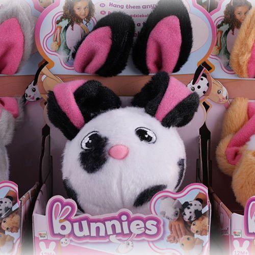 Tm toys Bunnies króliczek magnetyczny | miękki pluszowy - biało-czarny