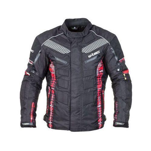 Męska kurtka motocyklowa kamicer nf-2100, czarno-czerwony, wxl, W-tec