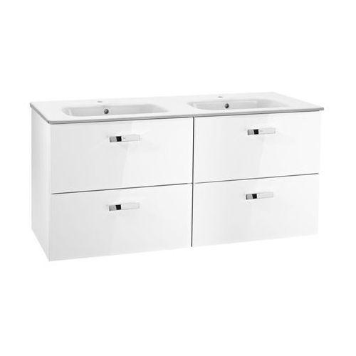 victoria basic zestaw łazienkowy unik szafka z umywalką 120cm biały połysk a855850806 marki Roca