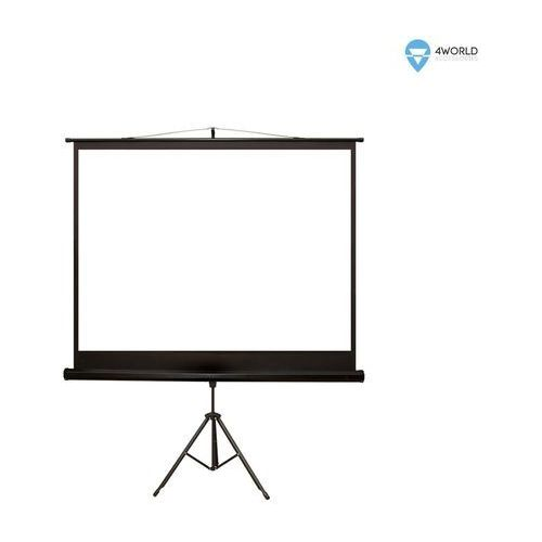 """4world ekran projekcyjny ze statywem 203x152 (100"""",4:3) biały mat (5908214349647)"""