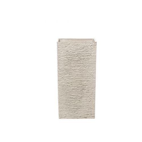 Blmeble Doniczka beżowa kwadratowa 35 x 35 x 70 cm benedetto