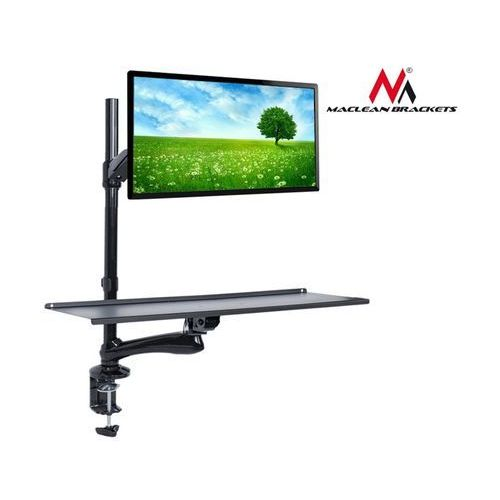 Uchwyt do monitora oraz klawiatury  mc-681 do pracy stojąco siedzącej marki Maclean
