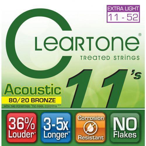 struny do gitary akustycznej 11-52 bronze marki Cleartone