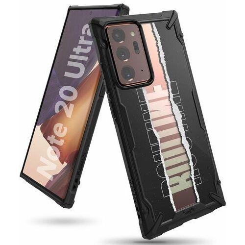 Ringke Fusion X Design etui pancerny pokrowiec z ramką Samsung Galaxy Note 20 Ultra czarny (XDSG0040) (8809716077786)