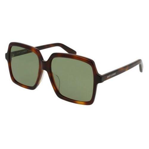 Saint laurent Okulary słoneczne sl 174/f asian fit 002