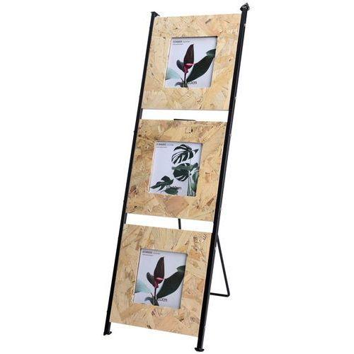 3 x ramka na zdjęcia - drewniany stojak foto, galeria