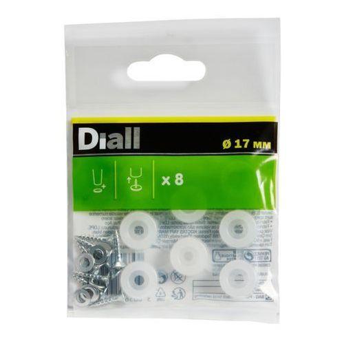 Diall Odbojnik drzwiowy 17 mm transparentny 8 szt. (3663602992004)