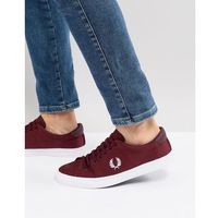 underspin nylon trainers in red - red, Fred perry