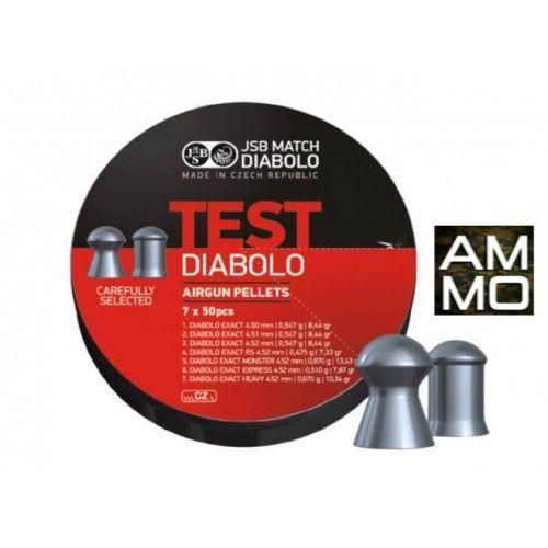 Śrut 4,5mm Test LG 7x50szt Diabolo Exact 350szt JSB z kategorii amunicja do wiatrówek