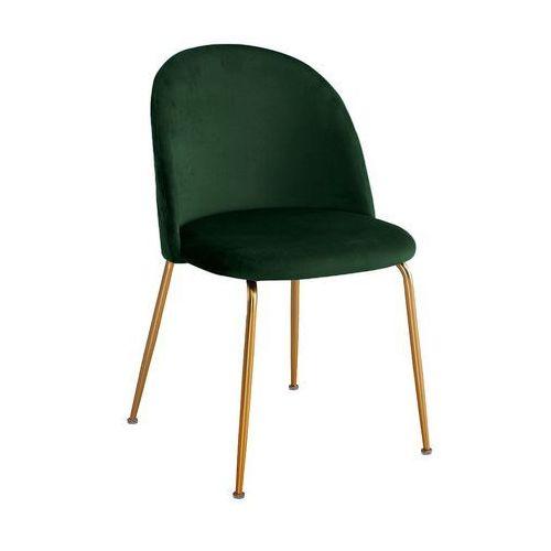 Krzesło forli ciemnozielony aksamit/ noga złota marki Atreve