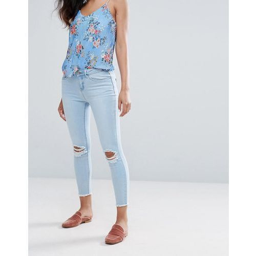 New Look Bling Gemstone Ripped Skinny Jeans - Black, jeans