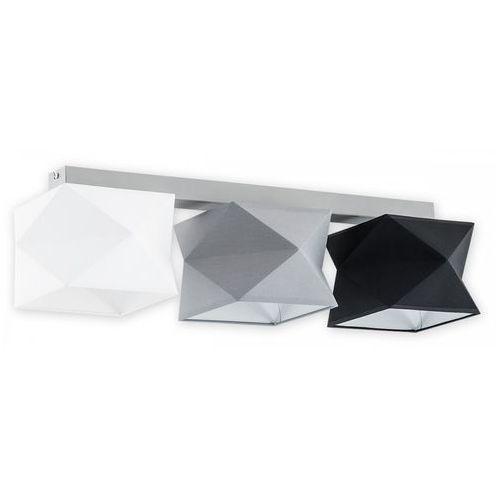 Lemir Espero O2773 P3 SZA + BIA + CZA + SZA plafon lampa sufitowa 3x60W E27 szary mat / biały / czarny, kolor Szary