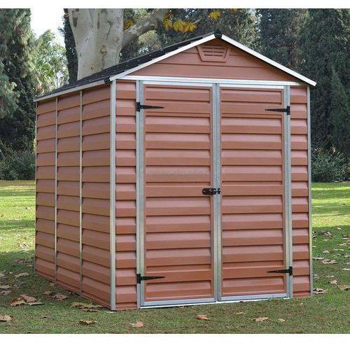 Narzędziowy domek do ogrodu skylight 6x8 brązowy - transport gratis! marki Palram