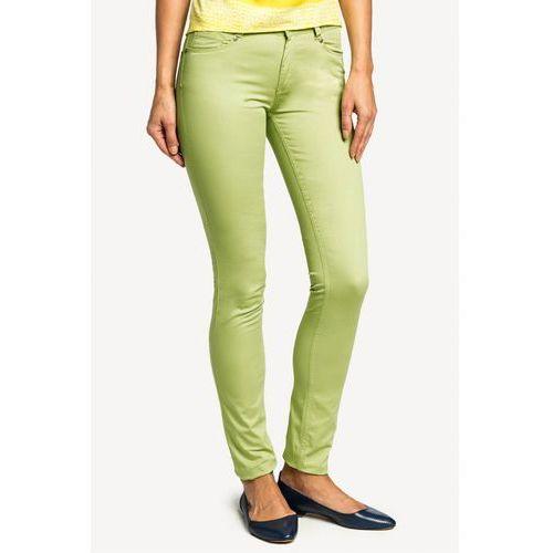 Limonkowe spodnie jeansowe - marki Potis & verso