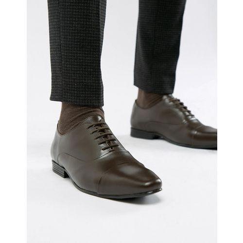 Kg by kurt geiger wide fit kenwall lace up shoes - brown, Kg kurt geiger