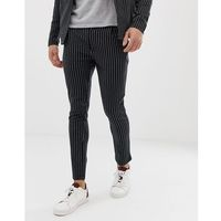 Jack & Jones Premium jersey pinstripe trousers - Black