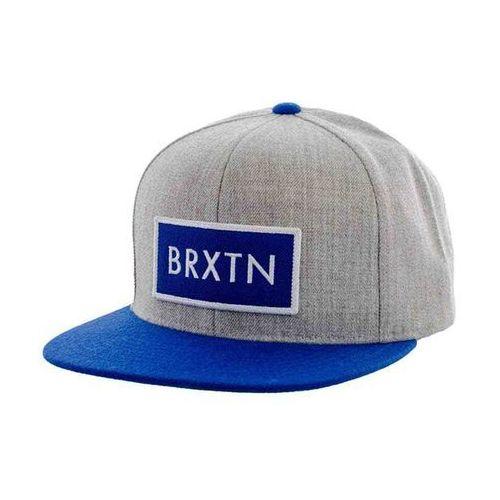 czapka z daszkiem BRIXTON - Rift Light Heather Grey/Royal (0319) rozmiar: OS