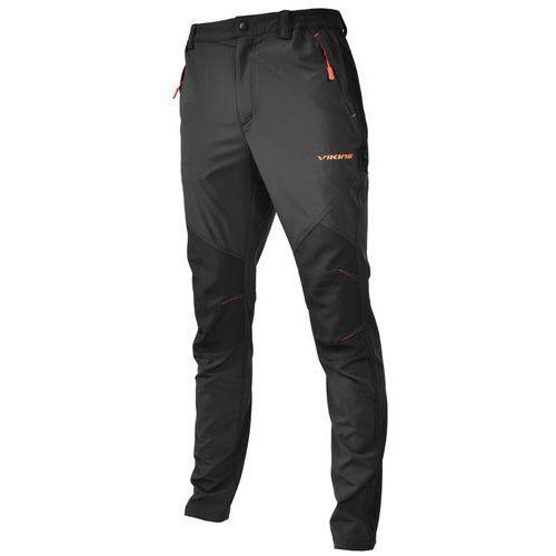 Spodnie trekkingowe alaska man czarny/pomarańczowy 900/19/1612/54 l marki Viking
