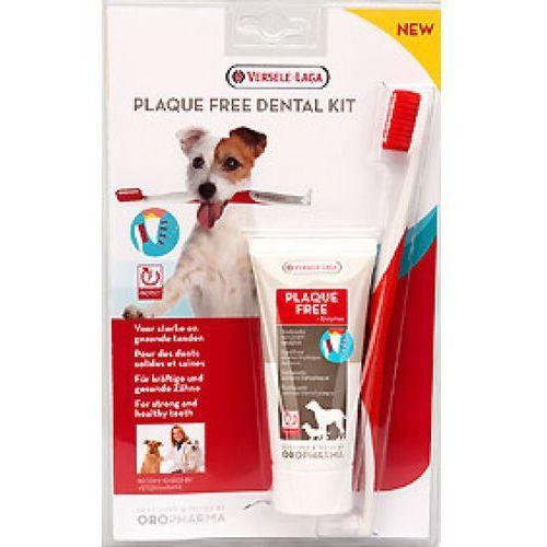 Oropharma plaque free dental care kit zestaw pasta+szczoteczka do zębów dla psów marki Versele-laga
