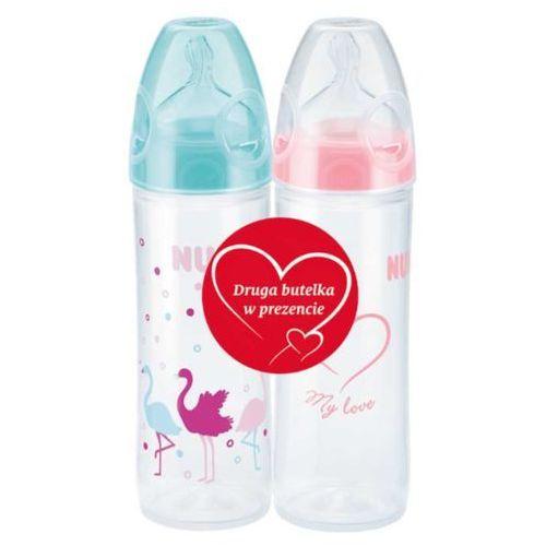 NUK Zestaw New Classic butelka ze smoczkiem+ gratis:druga butelka
