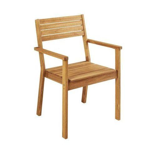 Krzesło ogrodowe drewniane PORTO NATERIAL z podłokietnikami (3276000319481)